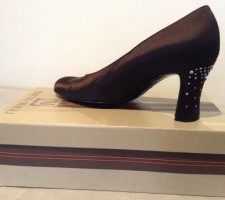 Bruno Magli Couture Shoes in brown satin