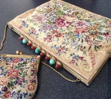 A beautiful vintage petit point bag