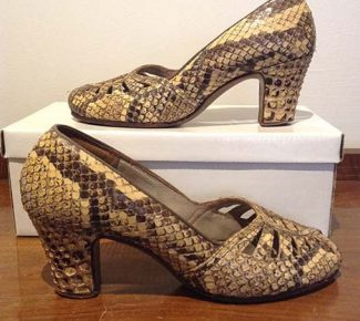 Vintage 1940s Snakeskin Shoes