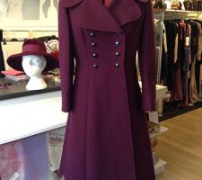Vintage Purple Coat By Dellbury with Vintage Hat By Bermona