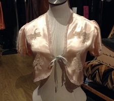 Vintage Applique Bed Jacket