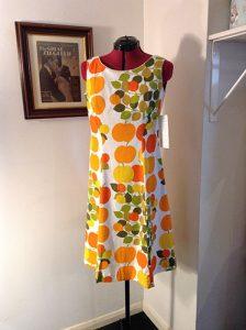 Early 1970s Apple Print Dress