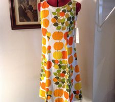 Early 1970s Apple Print Dress