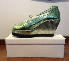 These beautiful shoes demonstrate the artistry of this unique and passionate shoe-maker.