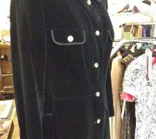 1960s Black Velvet Maxi Coat by Mono London